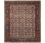 Link to 7' 9 x 9' Heriz Persian Square Rug