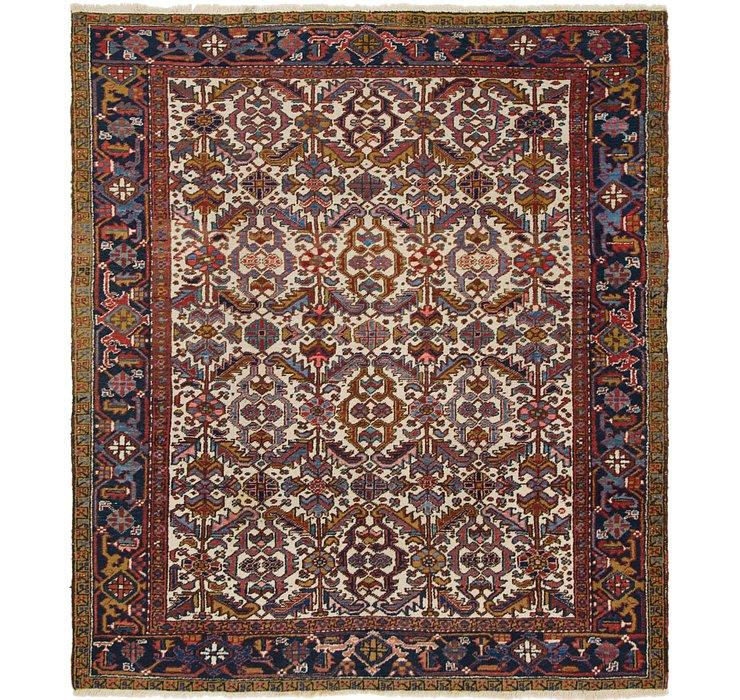 7' 9 x 9' Heriz Persian Square Rug