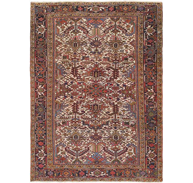 8' 8 x 11' 6 Heriz Persian Rug