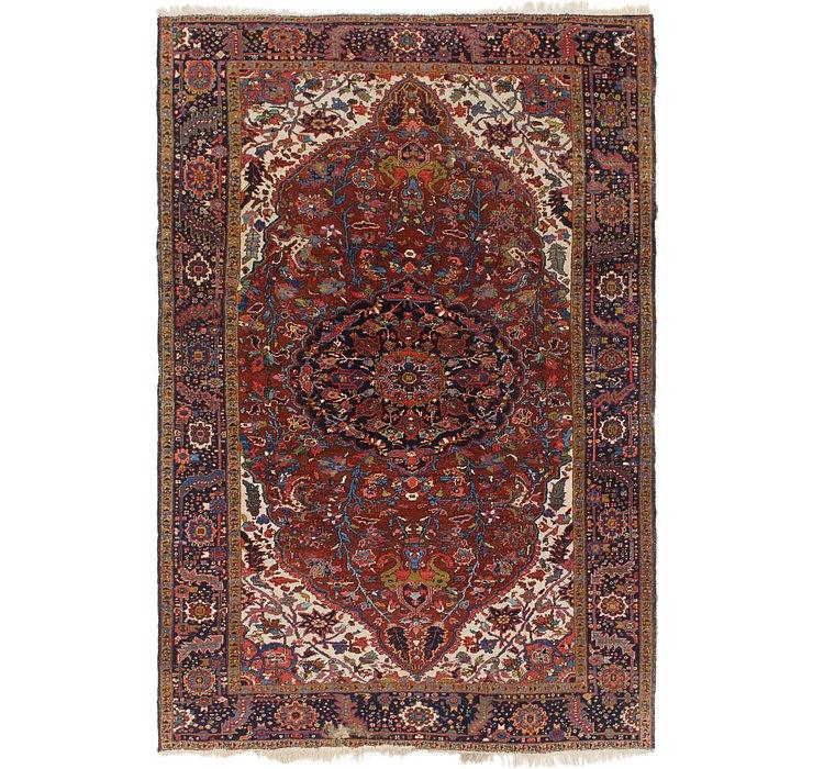 7' 6 x 11' Heriz Persian Rug