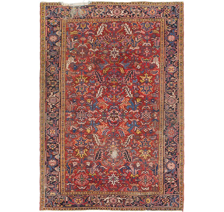 6' 10 x 10' Heriz Persian Rug