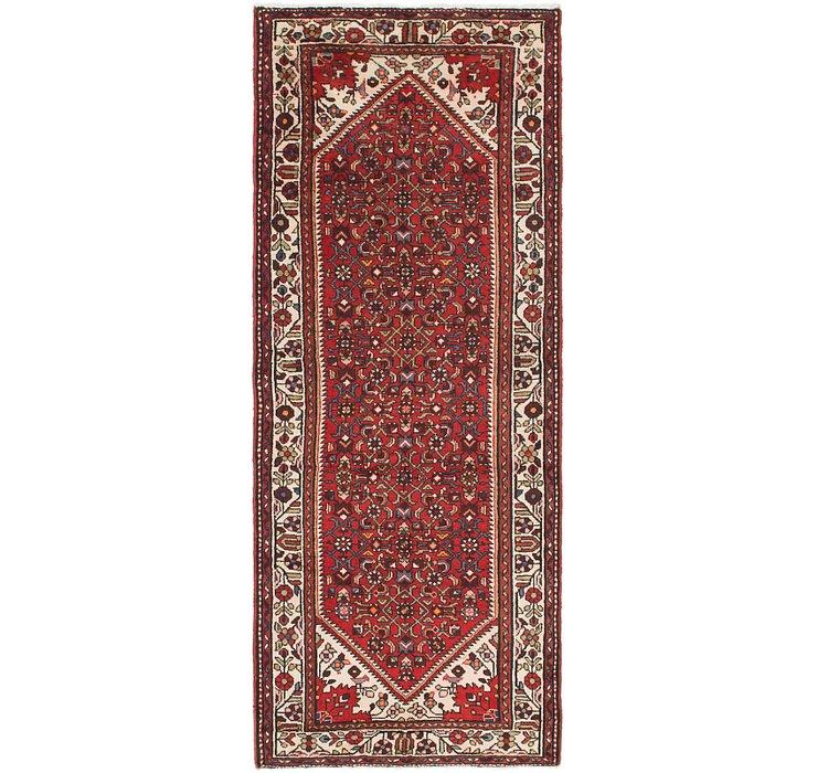 3' 8 x 9' 4 Hossainabad Persian Run...