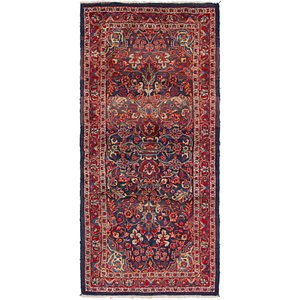 Link to 115cm x 245cm Mahal Persian Runner Rug item page