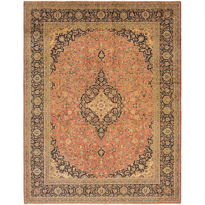 10' 9 x 14' Kashan Persian Rug