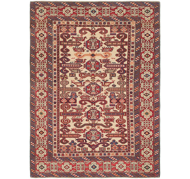4' 6 x 6' 3 Shirvan Persian Rug