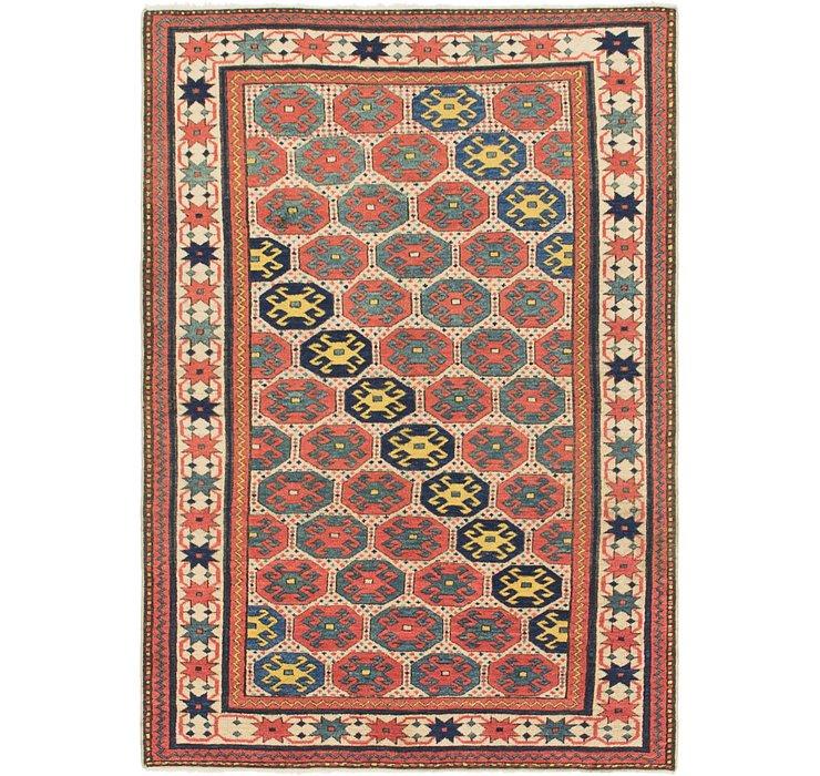 3' 9 x 5' 5 Shirvan Persian Rug