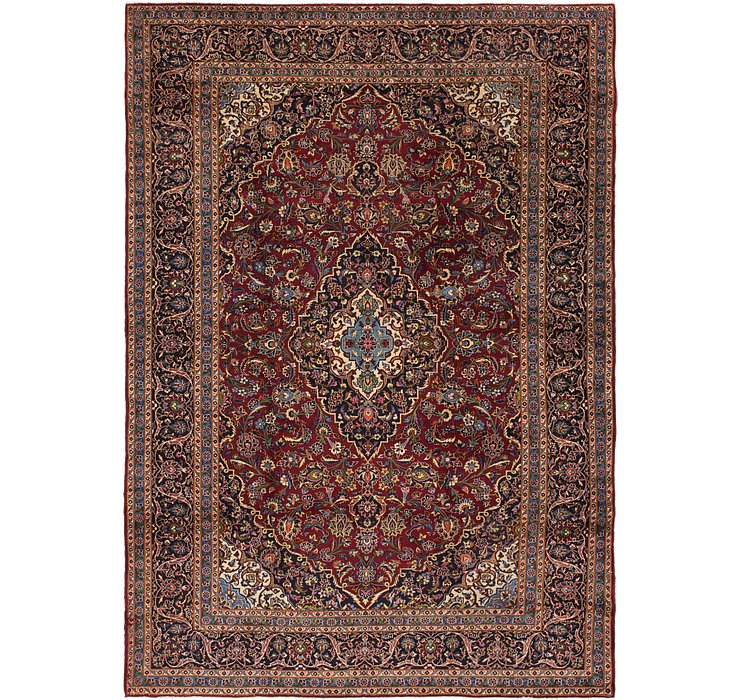 9' 5 x 13' 7 Kashan Persian Rug