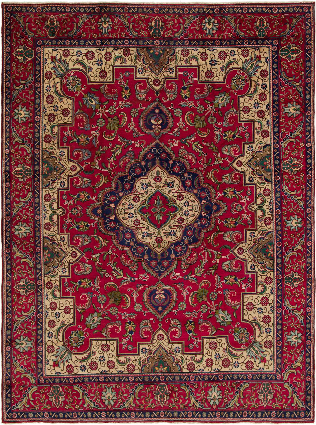 Red Handknotted 9 9 X 12 8 Tabriz Persian Rug Persian Rugs