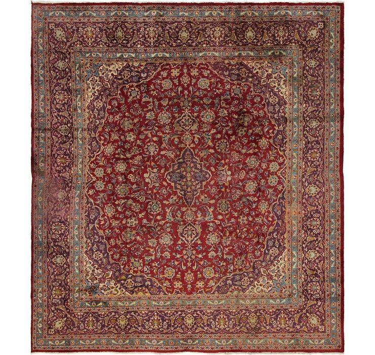 9' 8 x 10' 5 Mashad Persian Square Rug