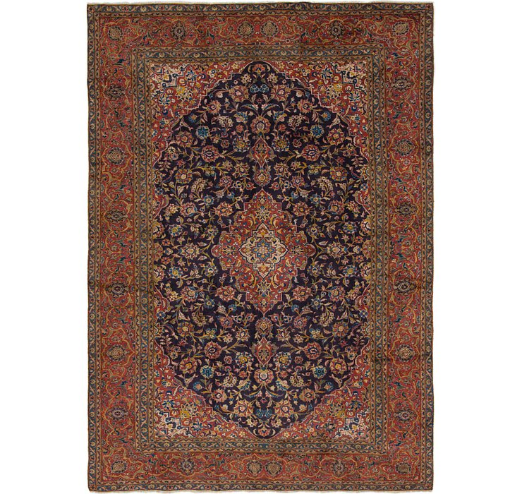 7' 10 x 11' Kashan Persian Rug