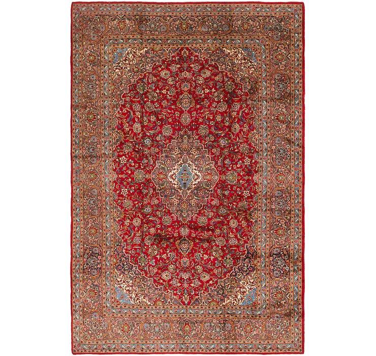 9' 6 x 14' 7 Kashan Persian Rug