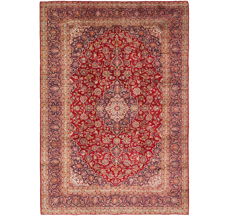9' 7 x 14' 2 Kashan Persian Rug