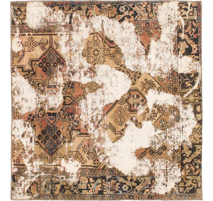127cm x 132cm Ultra Vintage Persian S...