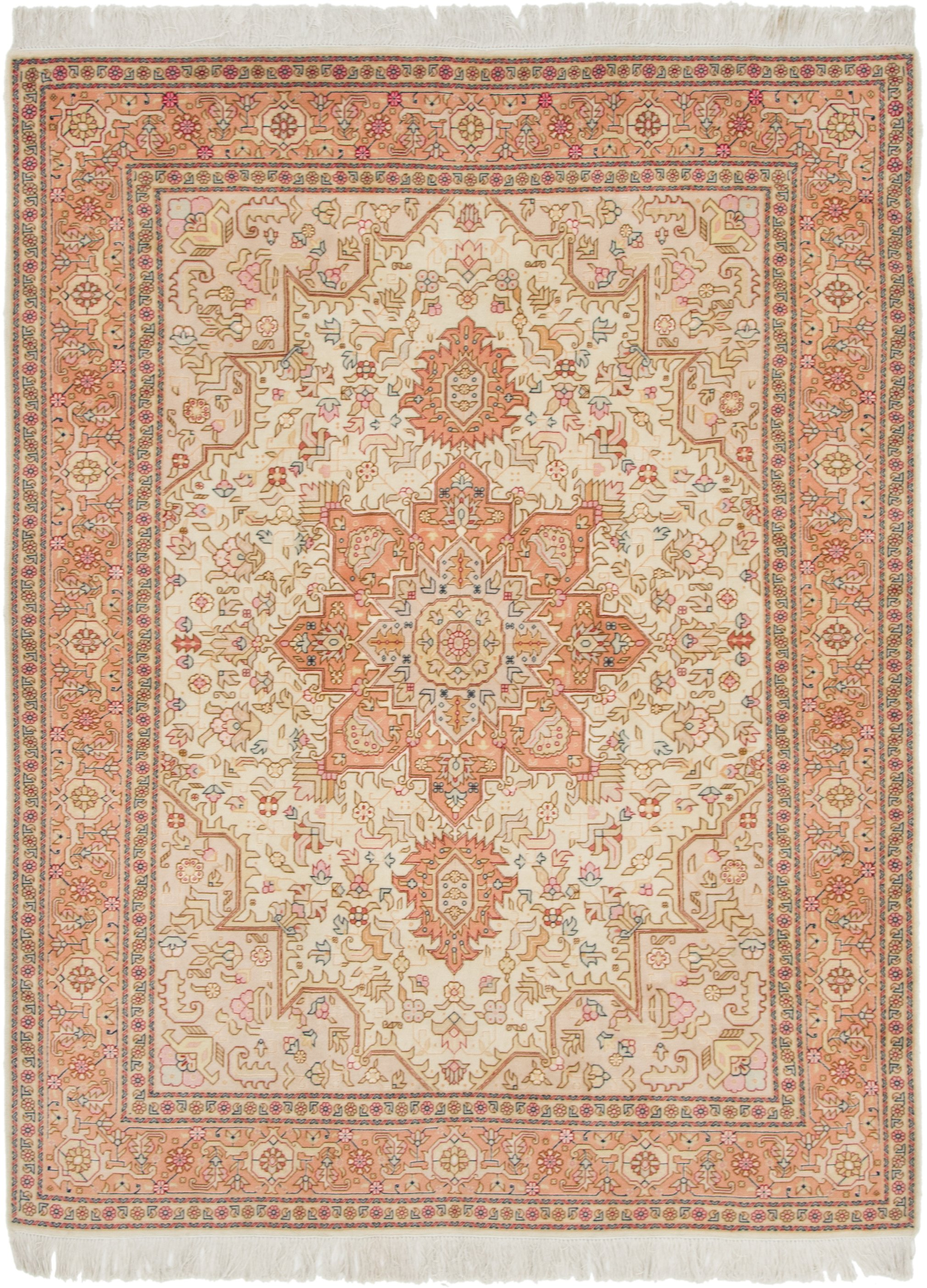 Coral 152cm X 198cm Tabriz Persian Rug Persian Rugs Irugs Ch