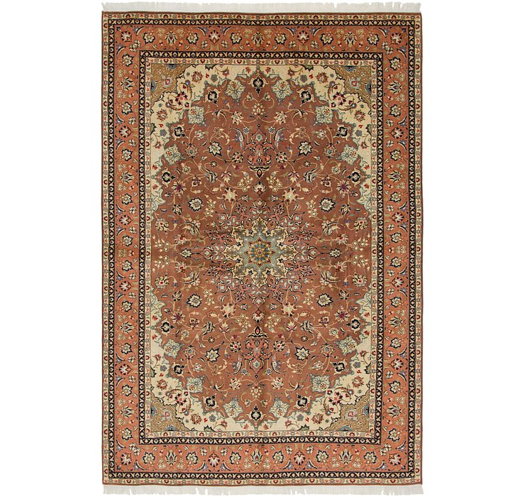 6' 7 x 10' Isfahan Persian Rug