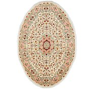Link to 6' 7 x 9' 10 Tabriz Persian Oval Rug