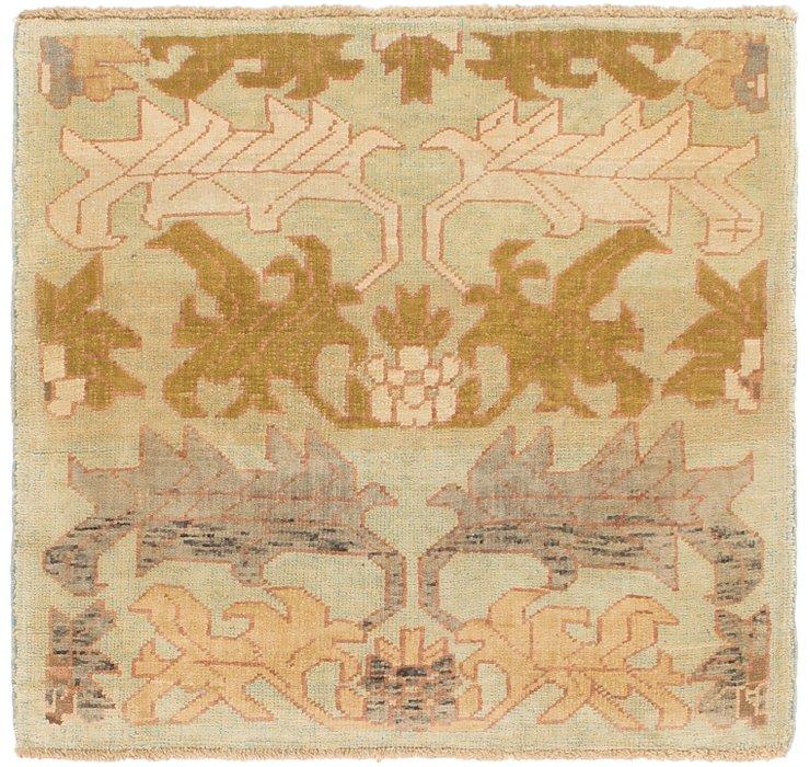 4' x 4' 3 Oushak Square Rug