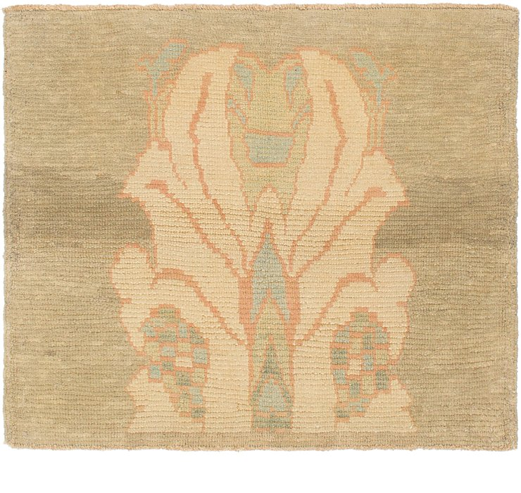 3' 7 x 4' Oushak Square Rug