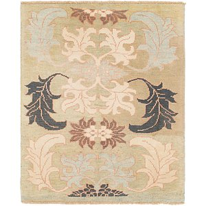 HandKnotted 4' 2 x 5' 3 Oushak Square Rug