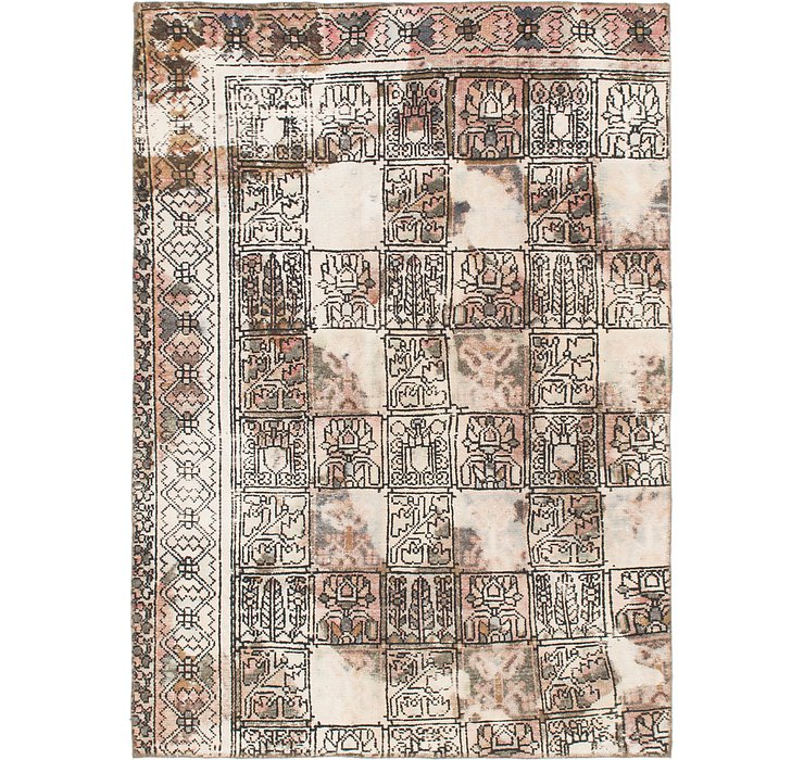 157cm x 218cm Ultra Vintage Persian Rug