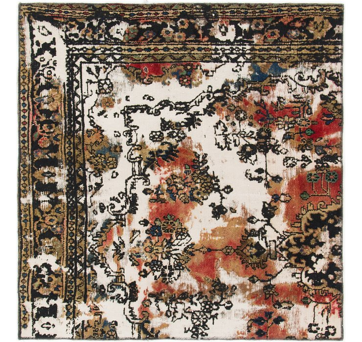 4' 4 x 4' 7 Ultra Vintage Persian S...