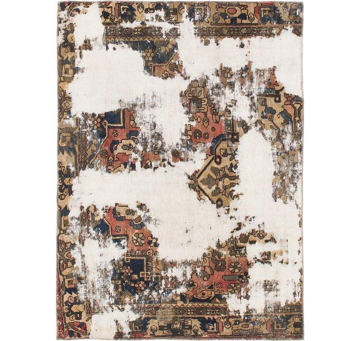 142cm x 193cm Ultra Vintage Persian Rug