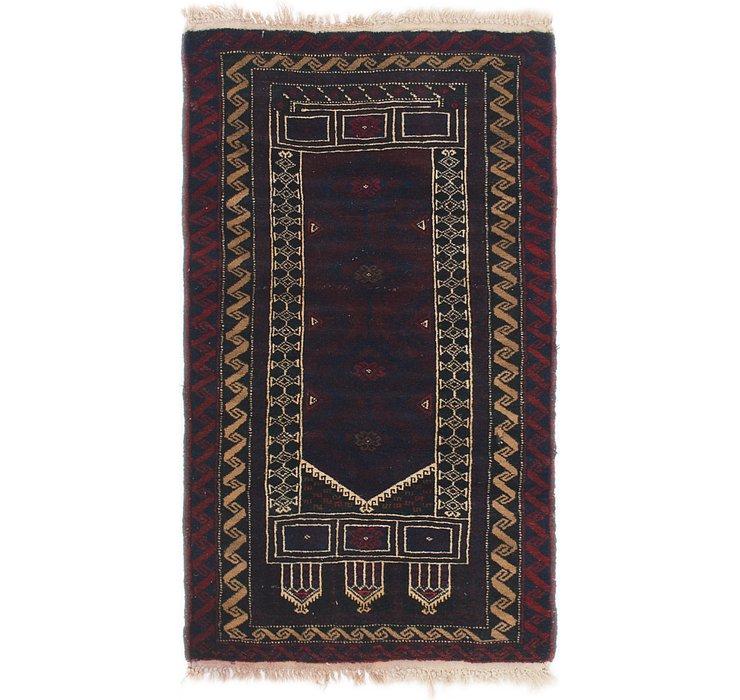 2' 8 x 5' 6 Balouch Persian Rug