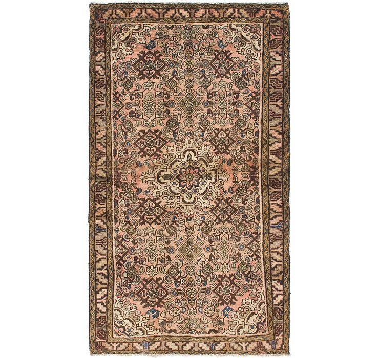 HandKnotted 3' 6 x 6' 2 Hossainabad Persian Rug
