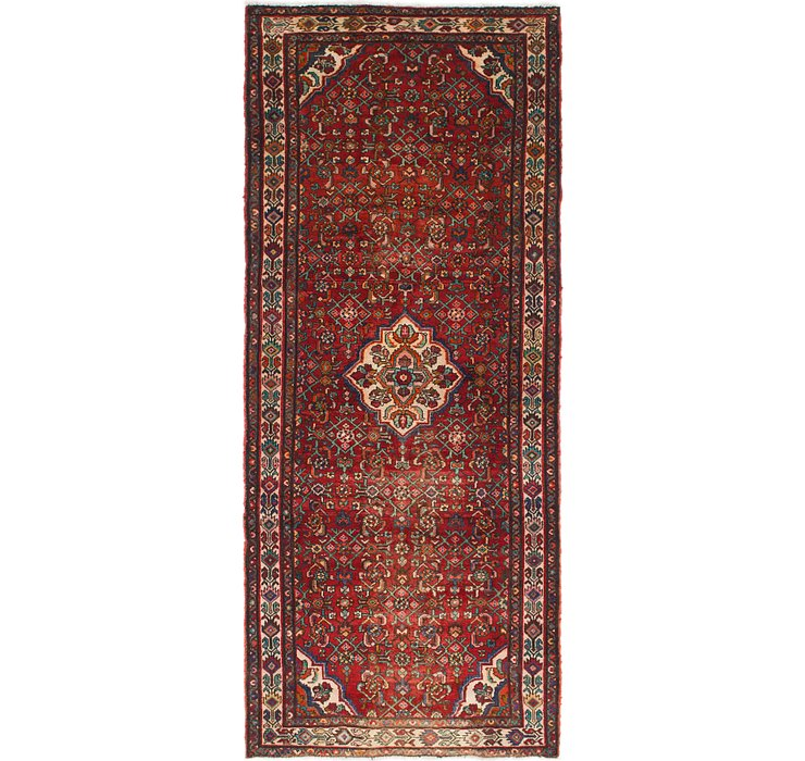HandKnotted 4' 5 x 10' 4 Hossainabad Persian Rug