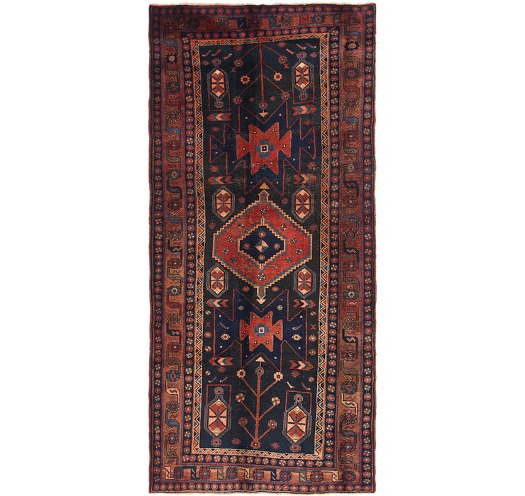 HandKnotted 4' 5 x 9' 9 Shiraz Persian Runner Rug