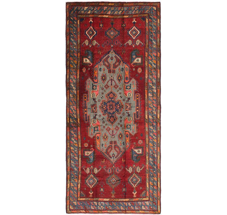 5' 3 x 11' 8 Shiraz Persian Runner Rug