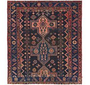 Link to 5' x 5' 7 Shiraz Persian Square Rug