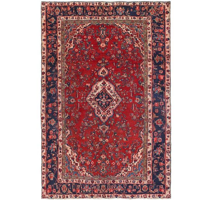 6' 7 x 9' 10 Hamedan Persian Rug