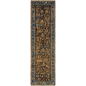 100cm x 345cm Saveh Persian Runner Rug