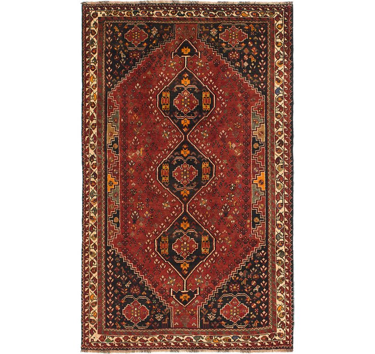 HandKnotted 5' 9 x 9' 4 Shiraz Persian Rug