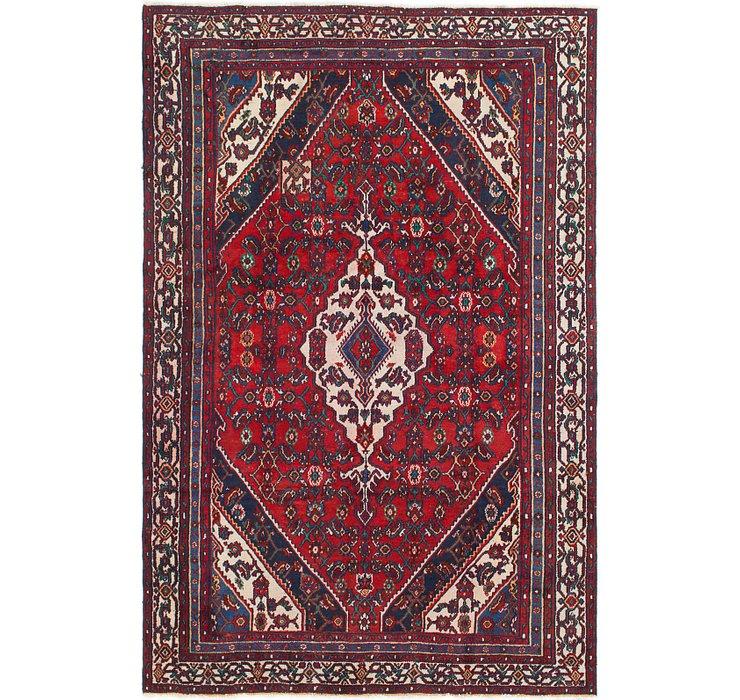 HandKnotted 6' 2 x 9' 5 Hamedan Persian Rug