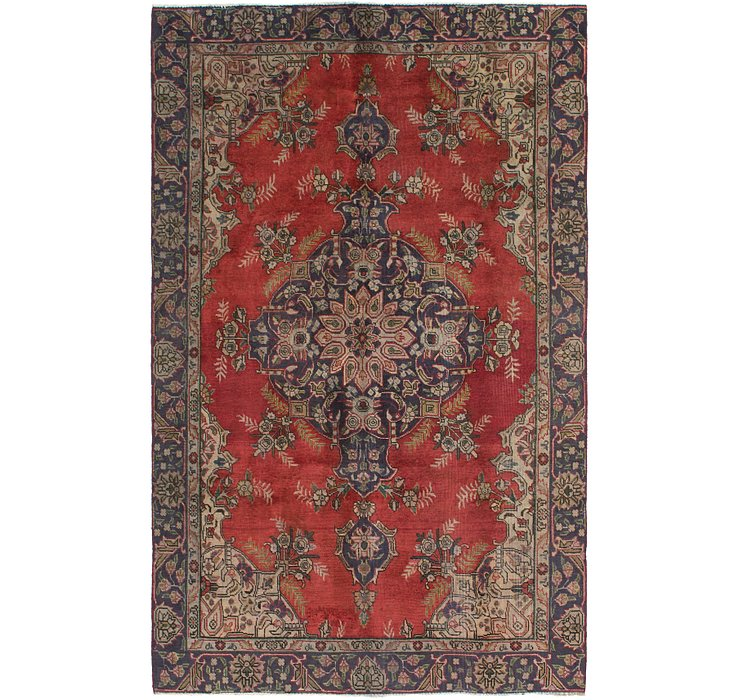 HandKnotted 6' x 9' 10 Tabriz Persian Rug