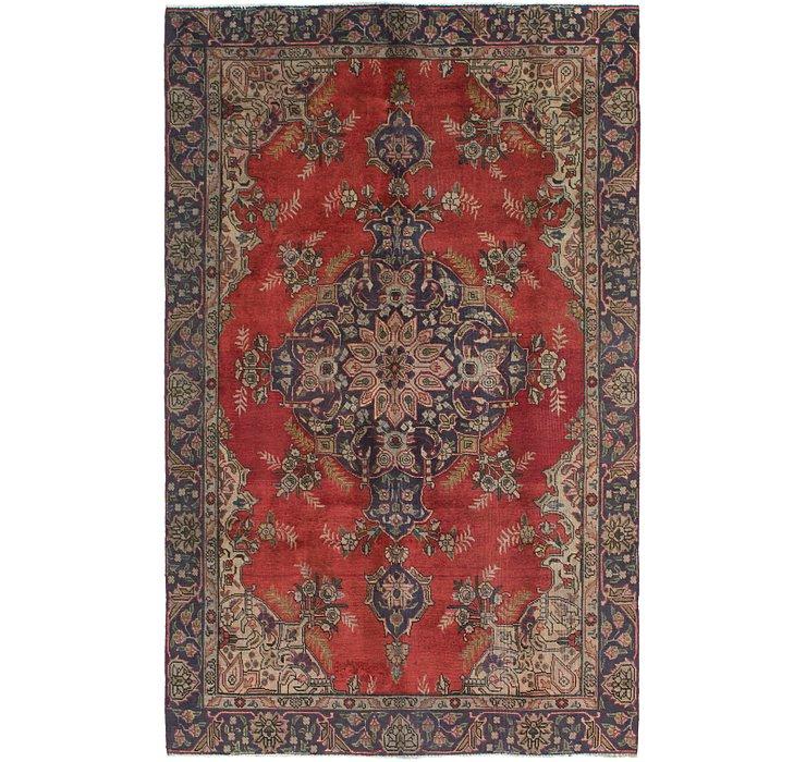 HandKnotted 6' x 9' 10 Tabriz Persian Rug
