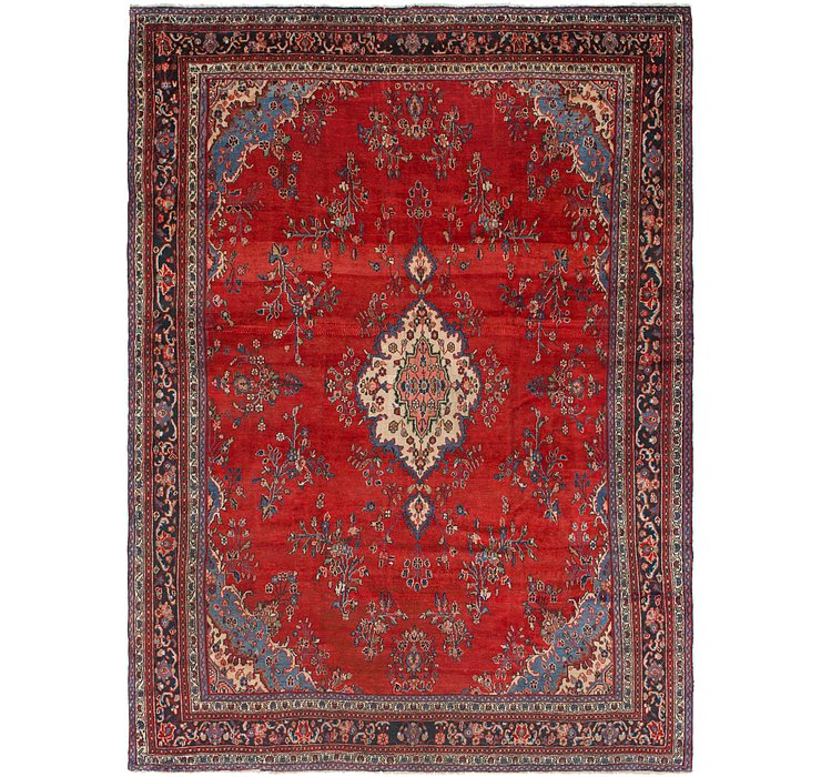 HandKnotted 9' 5 x 12' 8 Hamedan Persian Rug
