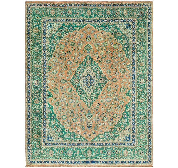 HandKnotted 9' 8 x 12' 6 Mashad Persian Rug