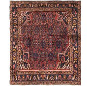 Link to 4' 10 x 5' 2 Hamedan Persian Square Rug