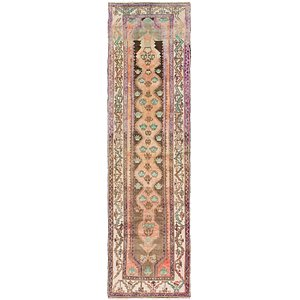 110cm x 365cm Saveh Persian Runner Rug