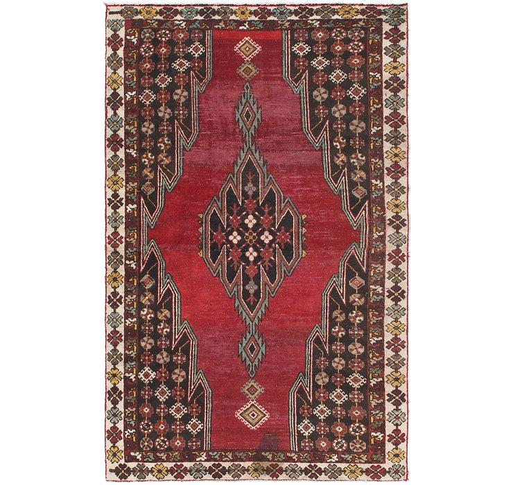 3' 10 x 6' 4 Mazlaghan Persian Rug