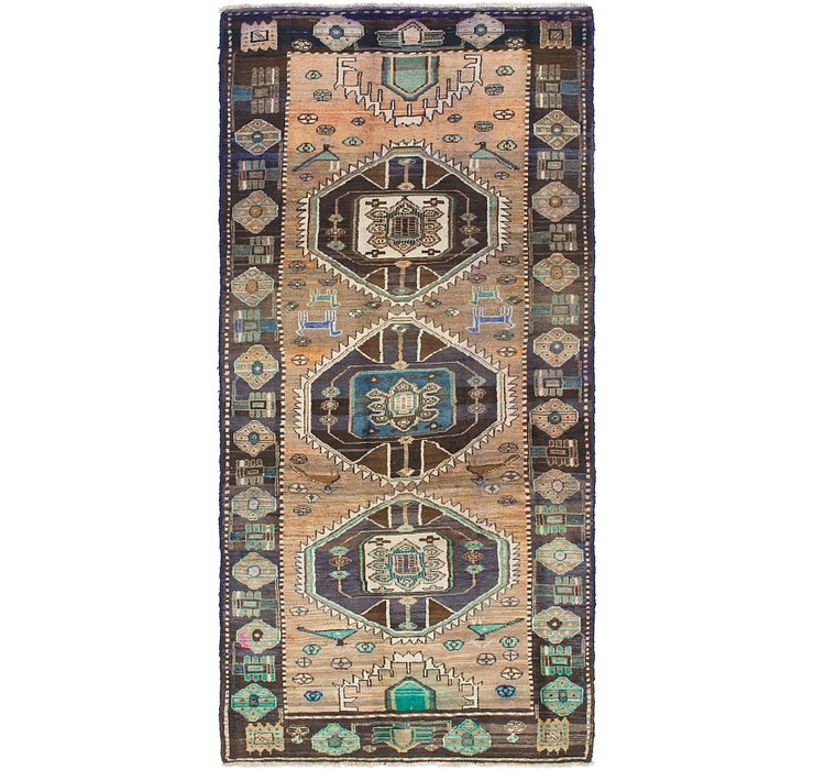 4' 2 x 9' Hamedan Persian Runner ...