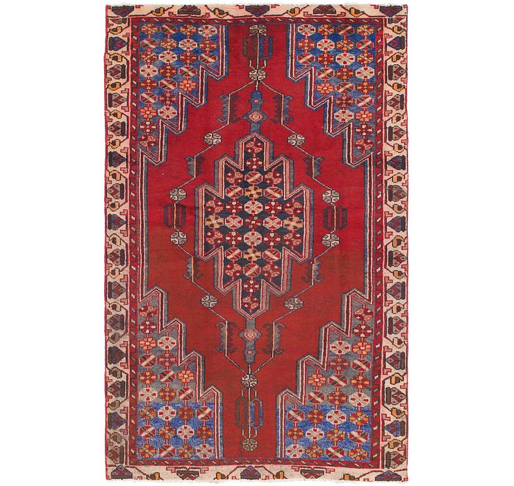 HandKnotted 4' 2 x 6' 9 Mazlaghan Persian Rug