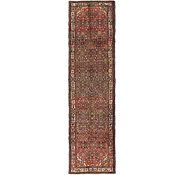 Link to 105cm x 378cm Hossainabad Persian Runner Rug