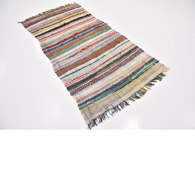 3' 8 x 7' Moroccan Runner Rug