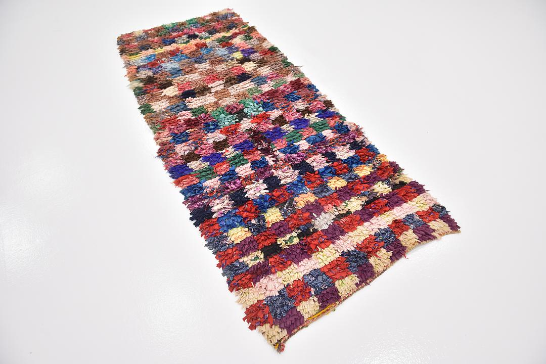 Multi Handknotted 3 X 7 7 Moroccan Runner Rug Oriental Rugs