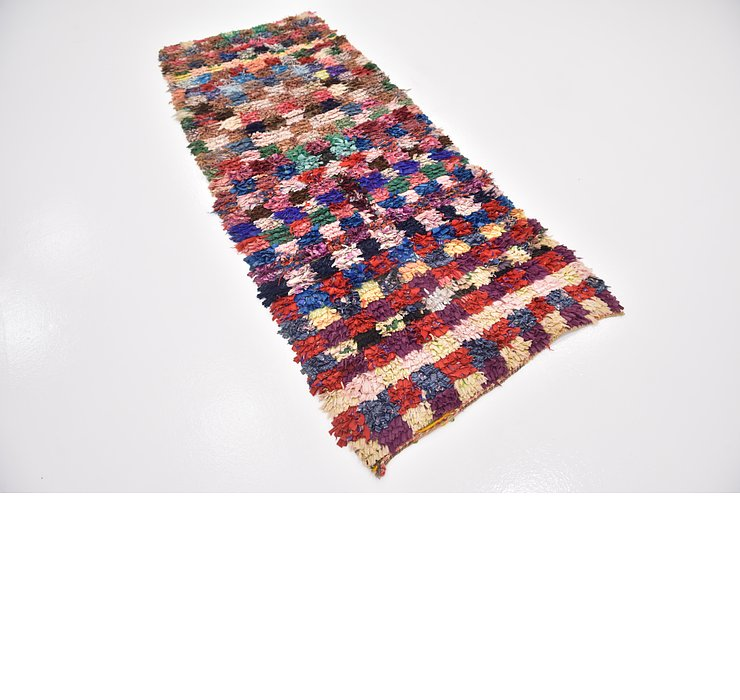 HandKnotted 3' x 7' 7 Moroccan Runner Rug