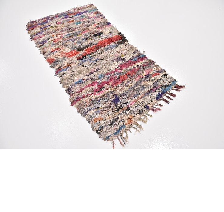 HandKnotted 3' x 6' 2 Moroccan Runner Rug